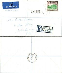 1962 RHODESIA & NYASALAND REGISTERED SINGLE, 1962