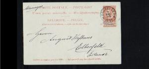1894 - Belgium Postcard - From Brussels to Elberfeld (D) [B09_110]