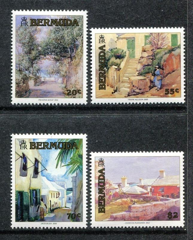 Bermuda 613-16 MNH Paintings 1991 by Prosper Senat Frank Alison Jack Bush x18445