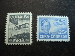 Stamps  - Cuba - Scott# C61-C62 - Mint Hinged Set of 2 Air Mail Stamps