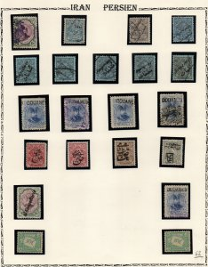 IRAN/PERSIA: Used & Overprints - Ex-Old Time Collection - Album Page (40273)