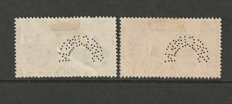 Nyasaland 1946 Victory PERFED SPECIMEN, MM, SG 158/9