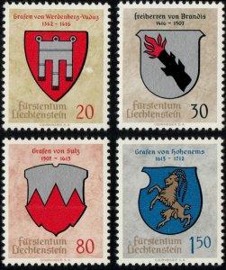 LIECHTENSTEIN - 1964 - Mi.440/443 Coat of Arms Set of 4 - Mint**