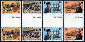 Isle of Man 158-161 gutter,MNH. Captain John Quilliam,British naval hero,1979.