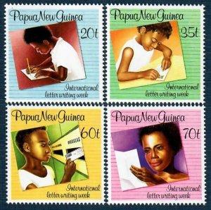 Papua New Guinea 707-10 MNH Intl Letter Writing Week (SCV $3.60)