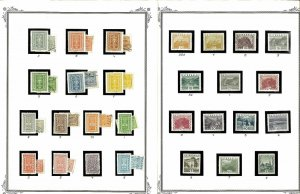 Austria 1890-1984 M & U in Mounts on Blank Scott Specialty Pages