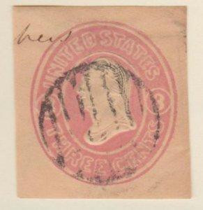 U.S. Scott #U35 Embossed Stamped Envelope - Used Single