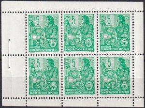 DDR #330c  MNH Booklet Pane CV $5.00 (Z4975)