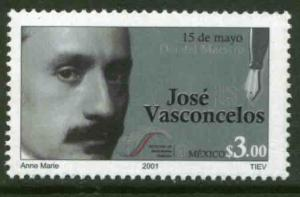 MEXICO 2226, Teachers Day - Jose Vasconcelos, Writer. MINT, NH. F-VF.