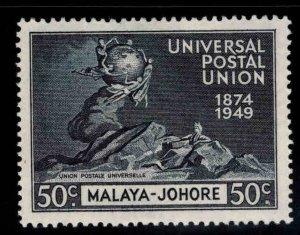 MALAYA-Jahore Scott 154 MH* UPU stamp