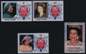 Tuvalu Vaitupu 58-61 MNH Queen Elizabeth 60th Birthday