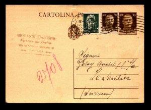 Italy 1935 Uprated Postal Stationery / Naples - L11091