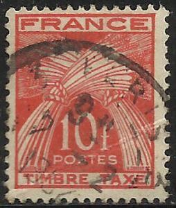 France 1946-53 Postage Due Scott# J89 Used