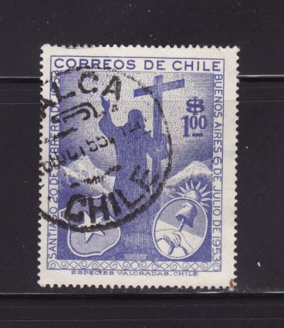 Chile 289 U Christ of the Andes (B)