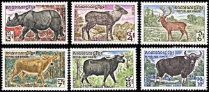 Khmer Republic 295-300, MNH, Cambodian Animals