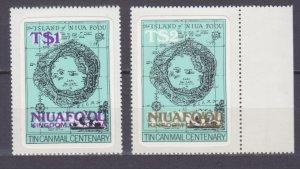 1983 Niuafo'ou 17-18 Overprint- # 823 in Tonga 9,10 €