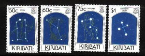 Kiribati-Sc#656-9-Unused NH set-Stars-Constellations-1996-please note that there