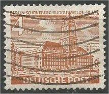BERLIN, 1949, used 4pf  Schoeneberg Scott 9N43