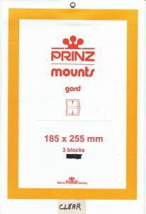 PRINZ CLEAR MOUNTS 185X255 (3) RETAIL PRICE $10.50