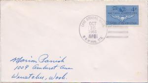 United States Washington B & M Rur. Sta. Lake Stevens 1961 4-bar  Philatelic.