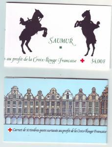 Z436 Jlstamps 1994-5 france mnh set of complete bklt #b662b-63b red cross