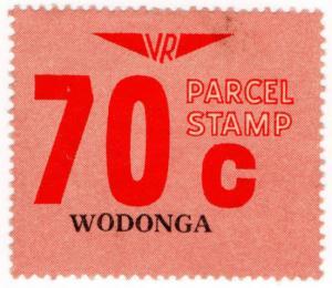 (I.B) Australia - Victoria Railways : Parcels Stamp 70c (Wodonga)