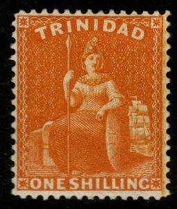 TRINIDAD SG78 1876 1/= CHROME-YELLOW MTD MINT