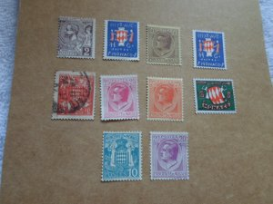 MONACO STAMPS LOT. 10 STAMPS # 7