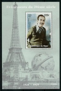 Niger Walt Disney Stamps 1998 MNH Famous People Mickey Mouse Eiffel Tower 1v S/S