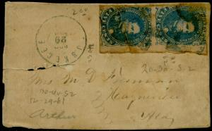 CSA #4 FINE TIED BY TUSKEGEE, ALA. 12/29/1862 CDS FRONT COPY ONLY CV $400 BQ3731