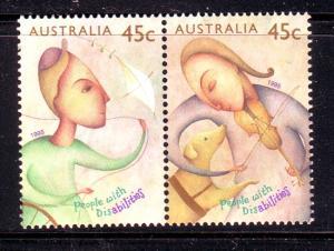 Australia  Sc 1451 1995 Disabled stamp set mint NH