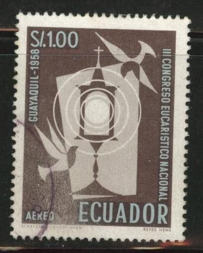 Ecuador Scott C329 used airmail  stamp 1958
