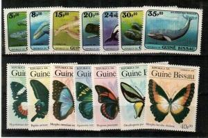 Guinea-Bissau Scott 597-610 Mint NH (Catalog Value $25.00)