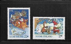 FINLAND, 874-875, MNH, CHRISTMAS