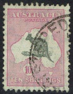 AUSTRALIA 1931 KANGAROO 10/- WMK C OF A USED