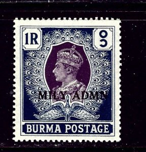 Burma 47 MH 1945 overprint