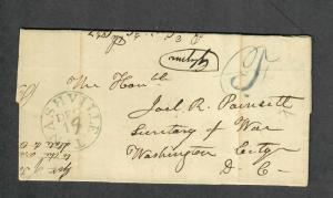 Nashville Tenn 1837 Stampless Cover Governor Newton Cannon Transcribed!