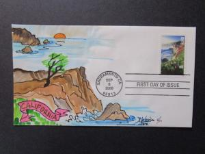 US - Melissa Fox Hand Painted FDC 6 of 10 / 2000 California - Z7349