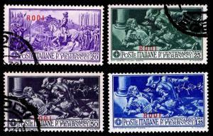 1930 ITALY - RHODES #24-27 - WMK 140 - MOSTLY USED - VF - CV$15.00 (ESP#1556)
