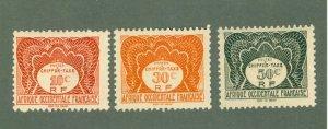 FRENCH WEST AFRICA  J1-3 MNH BIN $1.20