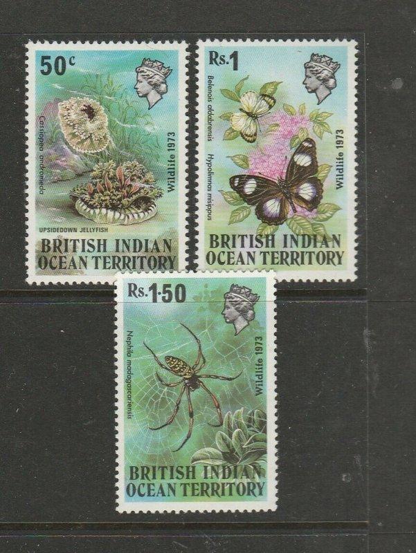 BIOT 1973 Wildlife 1st Series UM/MNH SG 53/5