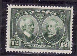 Canada-Sc#147- id5-Unused NH og 12c Laurier & Macdonald-1927-