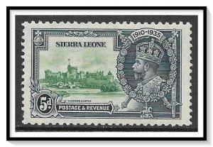 Sierra Leone #168 Silver Jubilee MH
