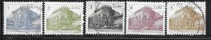 Ireland #537-541  Buildings (U) CV $1.30
