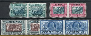 South West Africa 1938 Voortrekker Memorial set fine mint pairs sg105-8 c£110