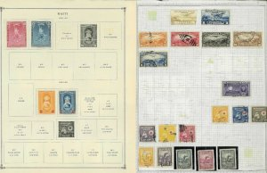 Haiti 1941-1977 M & U Hinged & in Mounts on a Mix of Remaindered Pages