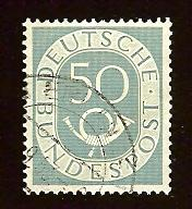 Germany #681 50pf Numeral and Post Horn
