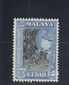 Kedah  Scott#  90  MH  (1957 Aborigines)