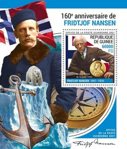 GUINEA - 2021 - Fridtjof Nansen - Perf Souv Sheet -Mint Never Hinged