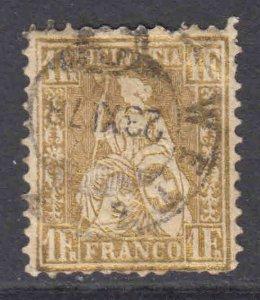 SWITZERLAND 50 1878 CDS F-VF $130 SCV